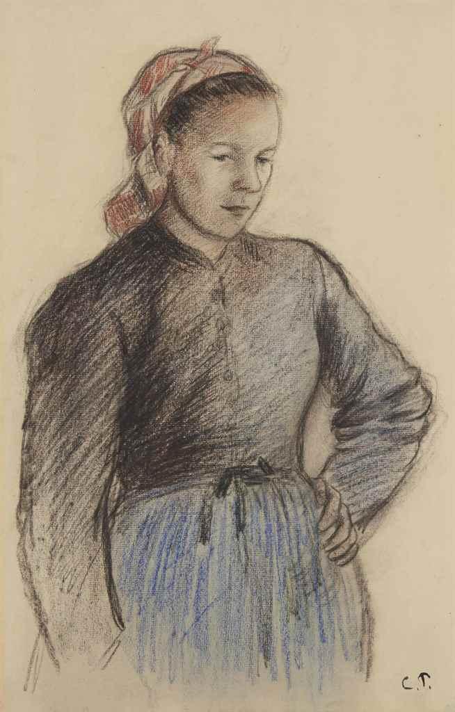 Camille pissarro 1830 1903 jeune paysanne christie 39 s for Camille pissarro oeuvre