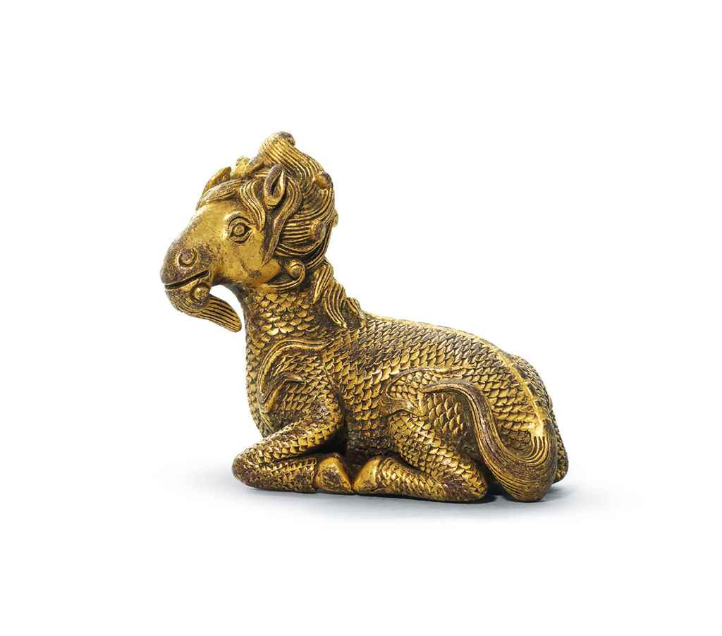 Mythical creatures in the life and art of ancient china christies a gilt bronze xiezhi form paperweight possibly early ming dynasty 2 in buycottarizona