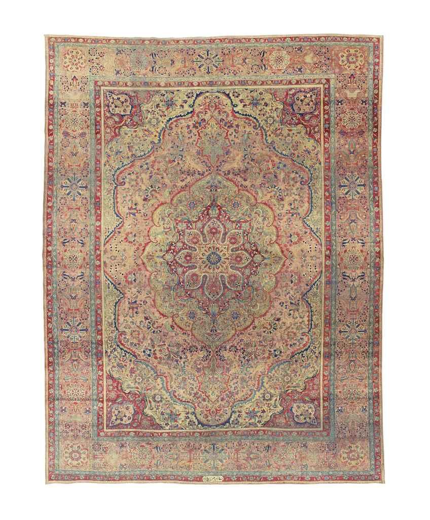 A Kashan Mohtahsham Carpet Central Persia Circa 1880