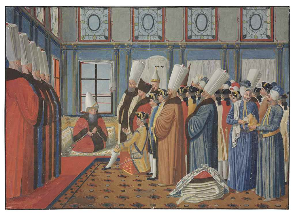 Two Ottoman Court Scenes After An Engraving By Antoine