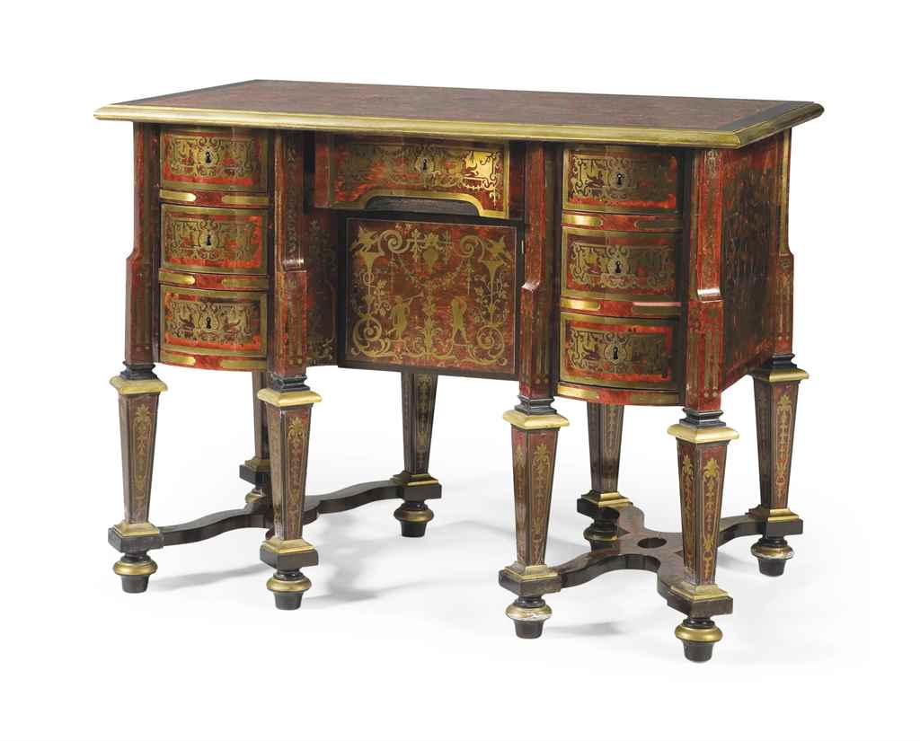 bureau mazarin d 39 epoque louis xiv fin du xviie siecle. Black Bedroom Furniture Sets. Home Design Ideas