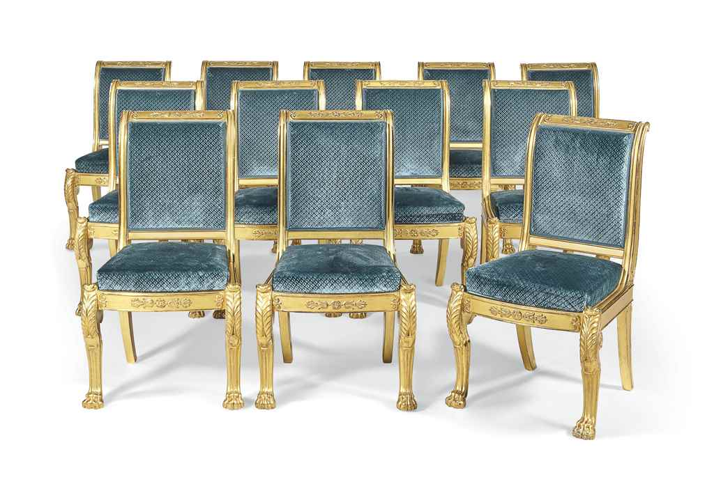 suite de dix chaises d 39 epoque louis philippe estampille. Black Bedroom Furniture Sets. Home Design Ideas