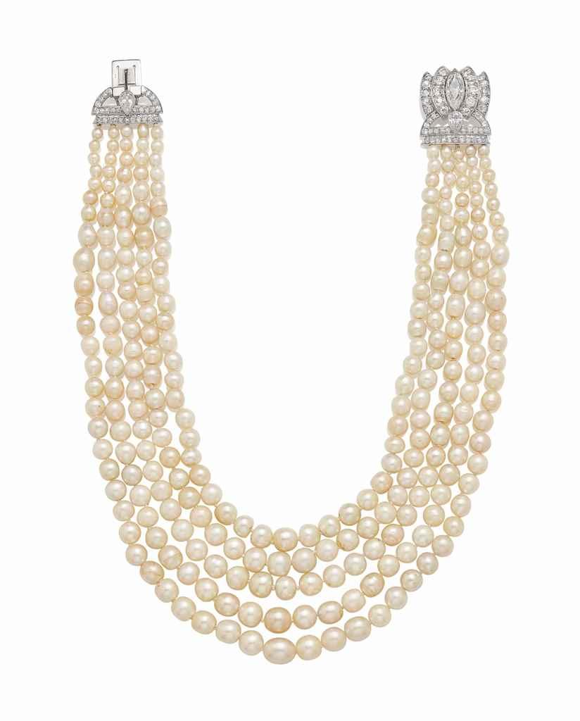 collier perles fines perle de culture et diamants par. Black Bedroom Furniture Sets. Home Design Ideas