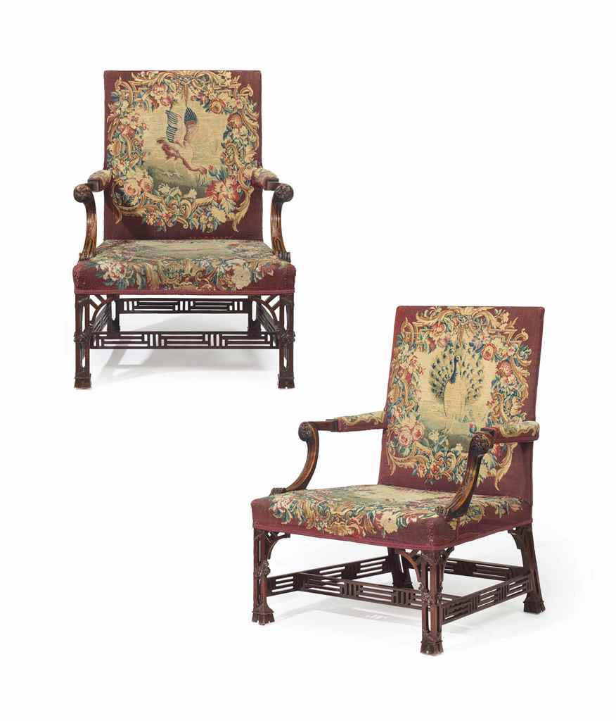 a pair of george ii mahogany l