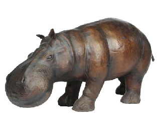 A leather model of a hippopota