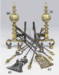 A set of gilt brass and polish