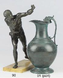 A Neapolitan bronze model of t
