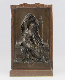 A French bronze high relief of