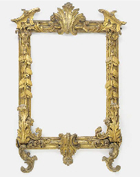 A carved and gilded frame, par