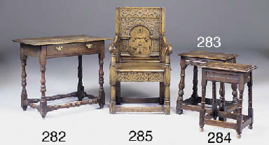 A carved oak armchair, 20th ce
