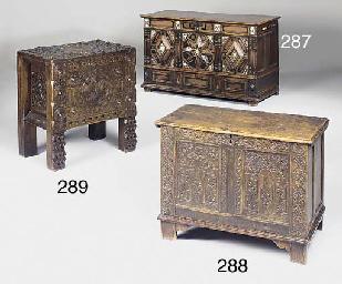 A Spanish style hardwood chest