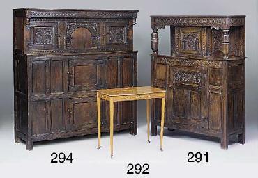 An oak press cupboard, element