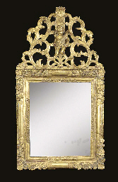 A Louis XIV giltwood picture f