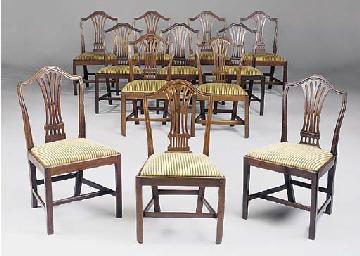A harlequin set of twelve maho