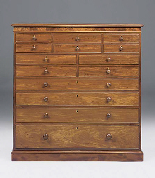 A late Regency mahogany chest
