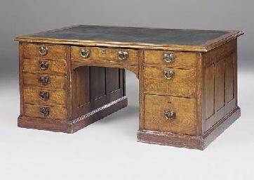 A late Victorian oak partners