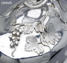 A German silver dish-cover