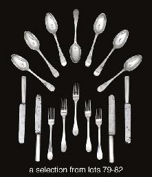 Twelve German silver table-spo