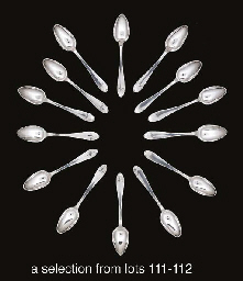 Twenty-six German silver teaspoons