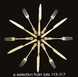 Twelve German silver-gilt dess