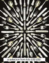 A German silver table-service