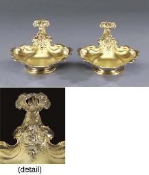 A pair of German silver-gilt d