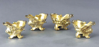 A set of four German silver-gi