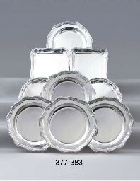 A pair of German silver trays