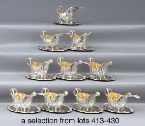 A German silver sauce-boat and