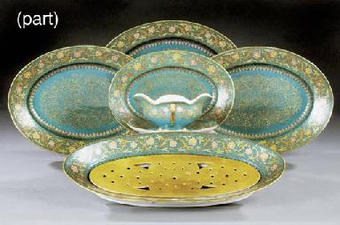 A porcelain blue-ground part d