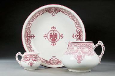 A quantity of German pottery b