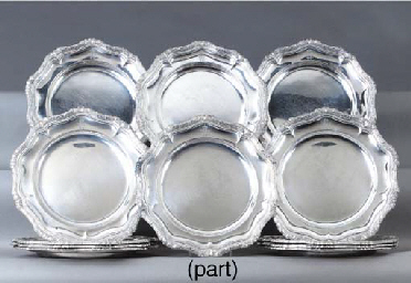 A German silver dinner-service