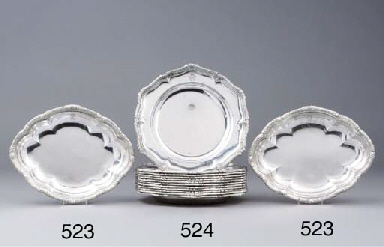 Two German silver entrée-dishe