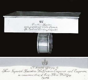 An Edward VII silver biscuit-s