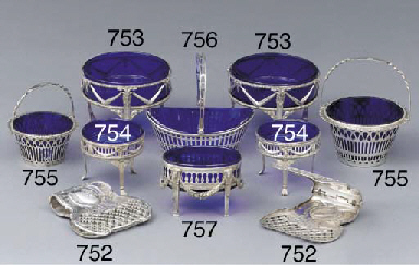 Two German silver sugar-basket