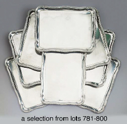 A German silver tray