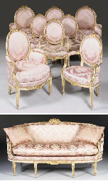 A MATCHED SUITE OF LOUIS XVI W