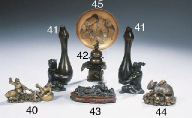 A small bronze group
