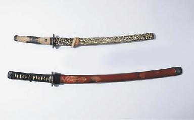 Two swords, katana