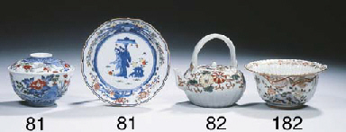 A Kakiemon-style saucer and a