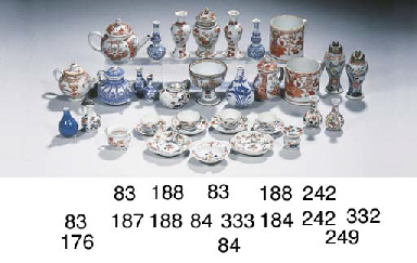 An assorted lot of rare Imari