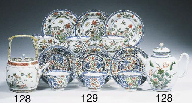 Two famille verte teapots and