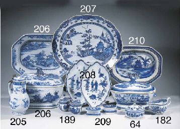A blue and white 'Nanking' tur