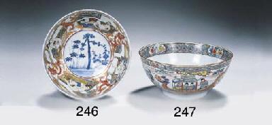 A verte-Imari 'erotic' bowl
