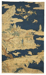 Two kesi panels, a scroll pain