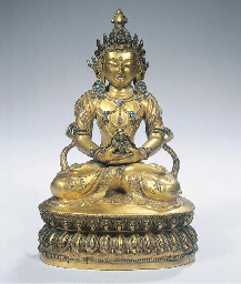 A fine Tibetan gilt-bronze fig