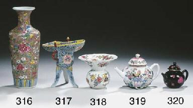 Five various polychrome teapot