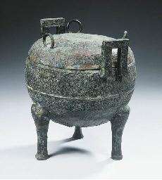 An archaic bronze censer and c