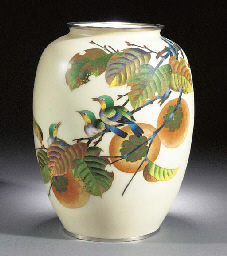 An Ovoid Cloisonne Vase By Sho