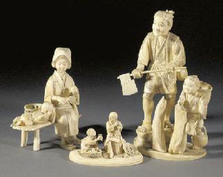 An ivory okimono Meiji Period